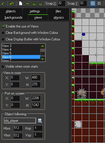 View Settings in the Room Editor